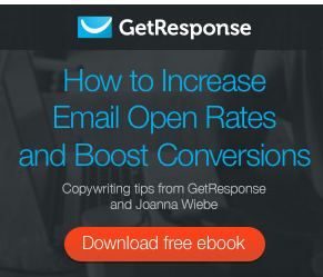 GetResponse how to increase email open rates and boost conversions download free ebbook